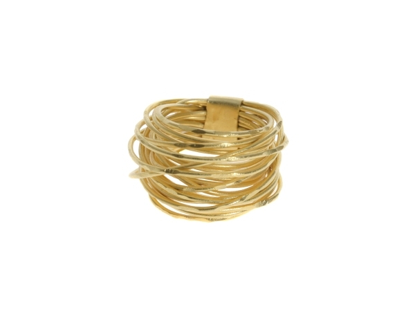 18k Gold Plated Wire Wrap Ring by Marcia Moran