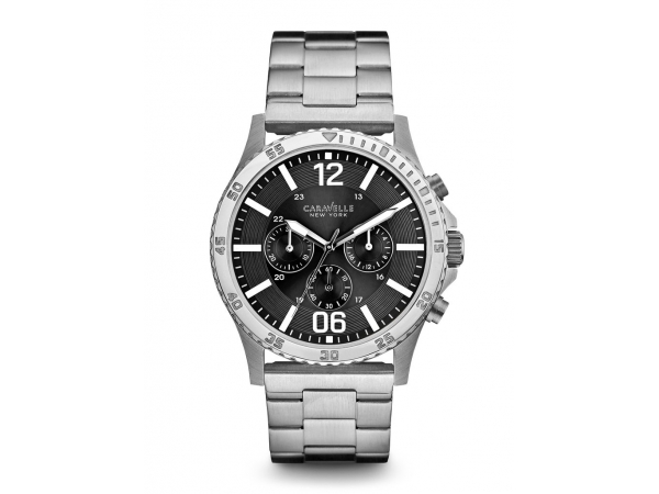 Gents Caravelle Stainless Steel Chronograph Watch by Bulova