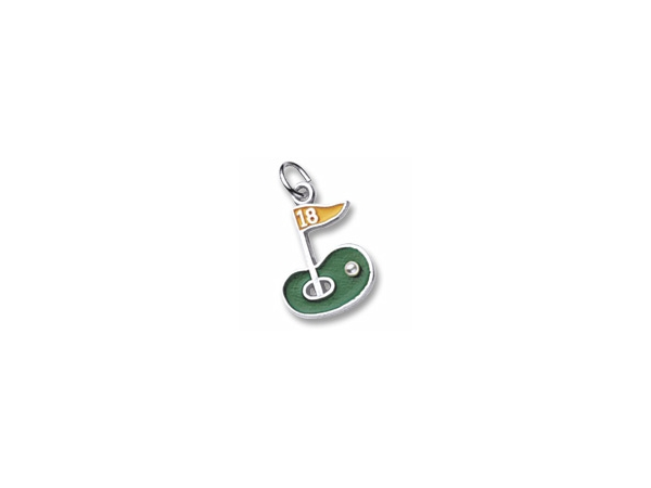 Sterling Silver Enamel Golf Green Charm by Rembrandt Charms