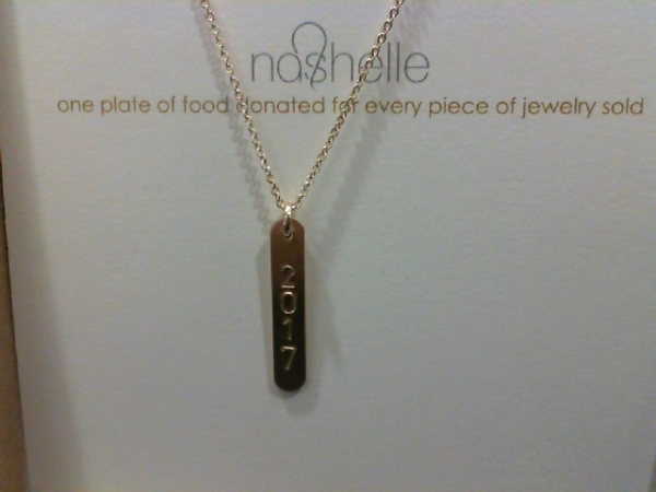 Goldfilled ID Bar Necklace (2017) by Nashelle