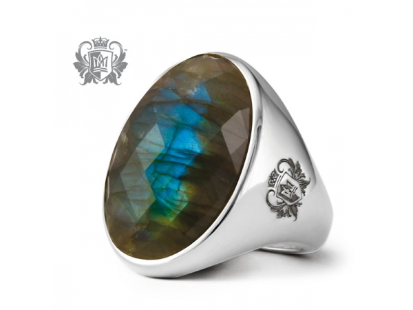 Sterling Signature Oval Bezel Set Ring w/ Labradorite by Metalsmiths Sterling